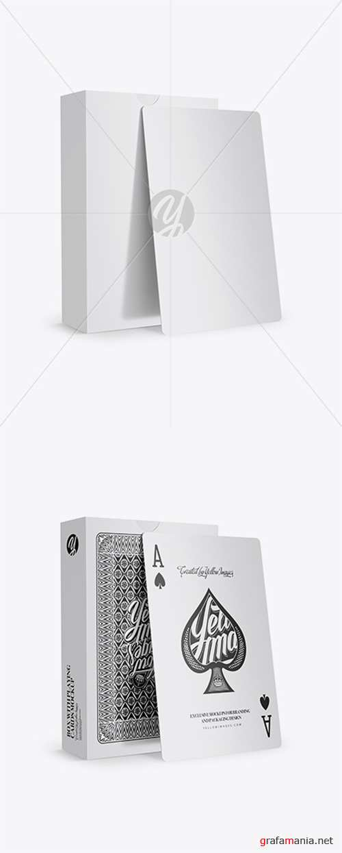 Box with Playing Cards Mockup 26306 TIF