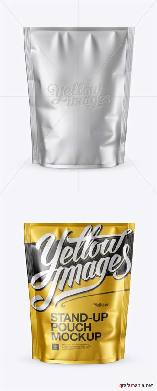 Matte Metallic Stand-up Pouch Mockup - Front View 14130 TIF