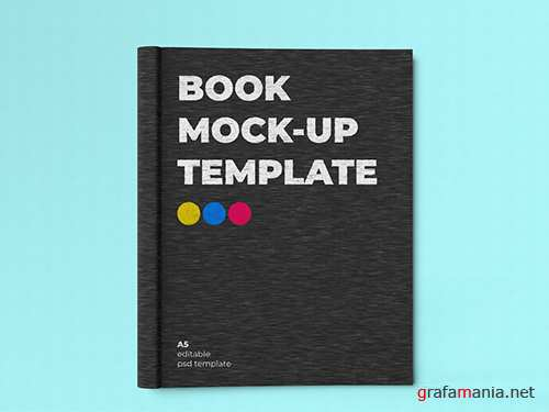 A5 Book Cover Mockup 256531569 PSDT