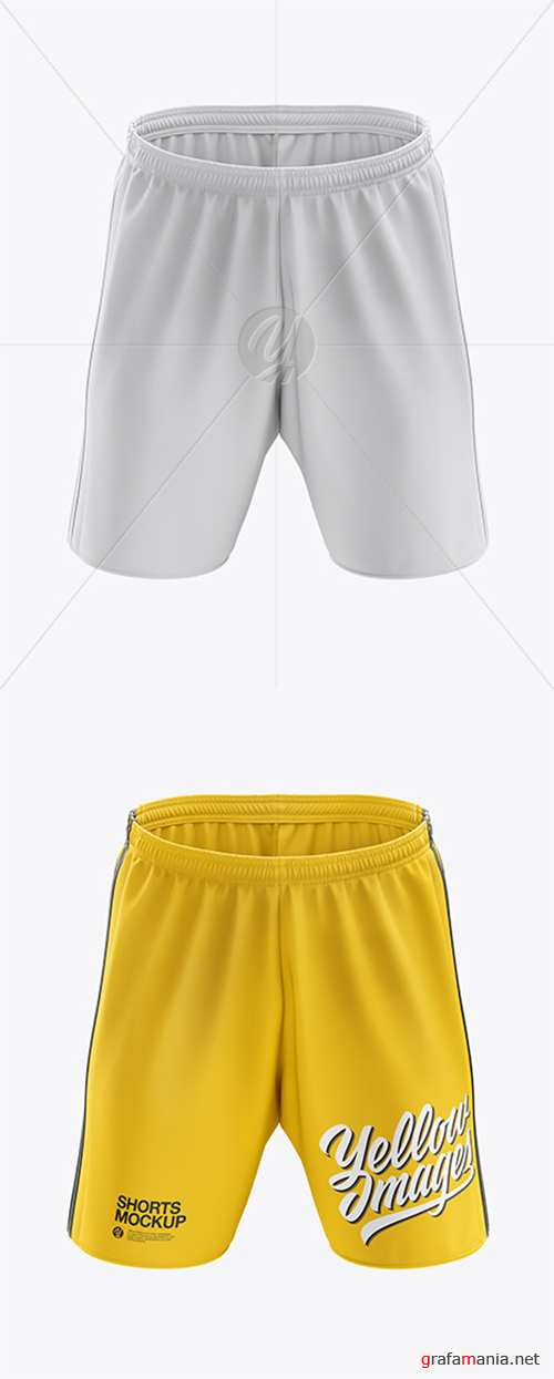 Men's Soccer Shorts mockup (Front View) 38703 TIF