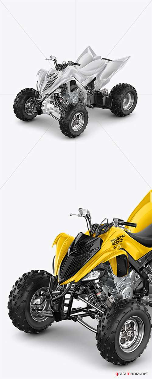 Quad Bike Mockup - Left Half Side View 39323 TIF