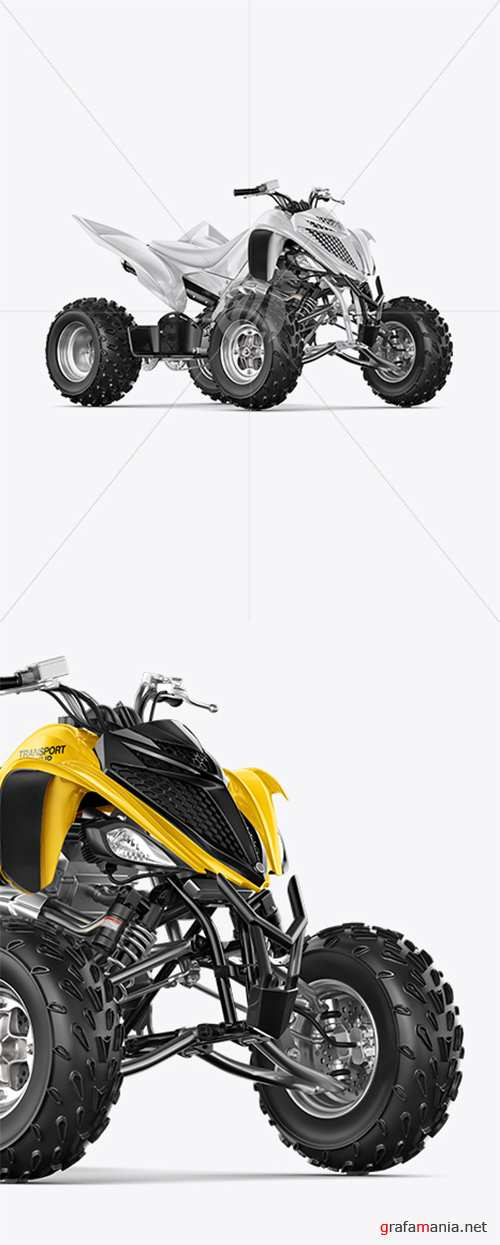 Quad Bike Mockup - Half Side View 39505 TIF