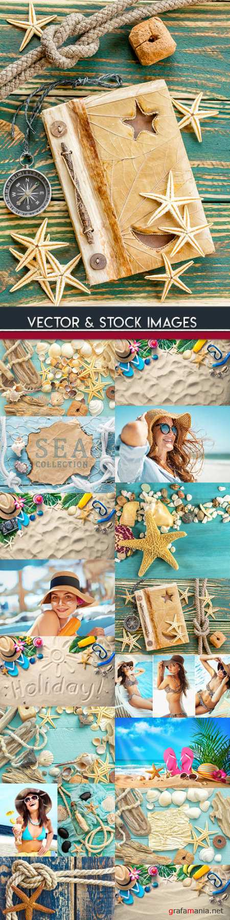 Summer holiday on solar beach big collection