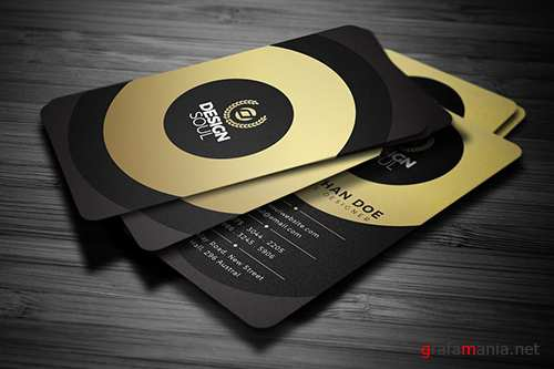 Gold Creative Business Card PSD