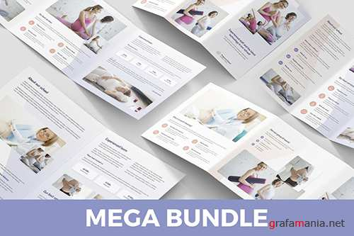 Pregnancy School – Brochures Bundle Templates