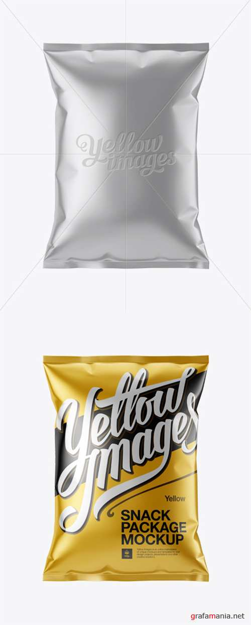 Matte Metallic Snack Package Mockup 13269 TIF