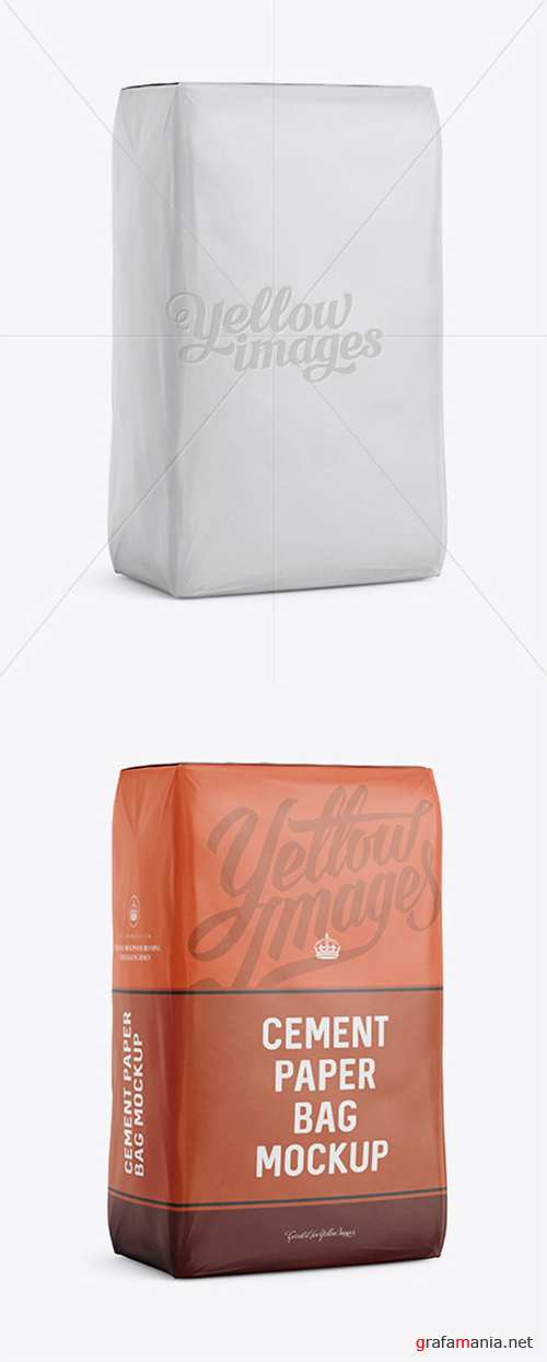 Cement Paper Bag Mockup - Halfside View 13390 TIF