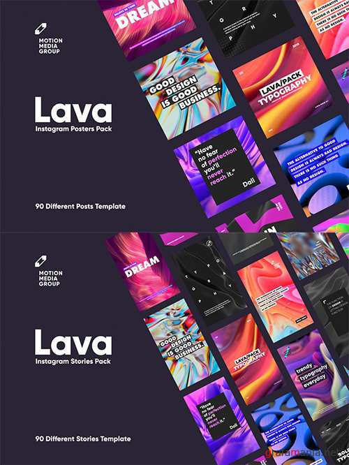 Lava Posters and Stories PSD