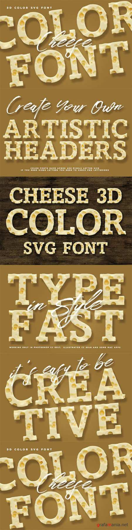 Cheese Color Font