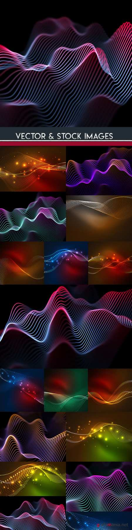Bright lines neon background decorative abstract