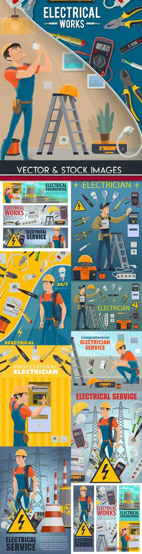 Electrician professional service and tool kit