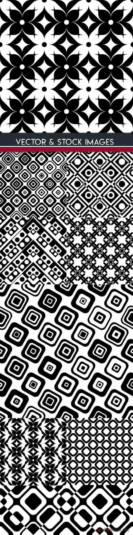 Modern abstract geometry seamless pattern design 33