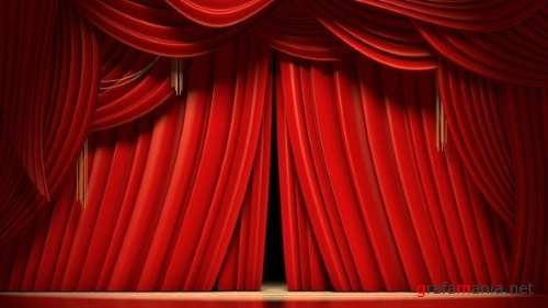 Red Stage Curtains Opening 24184468