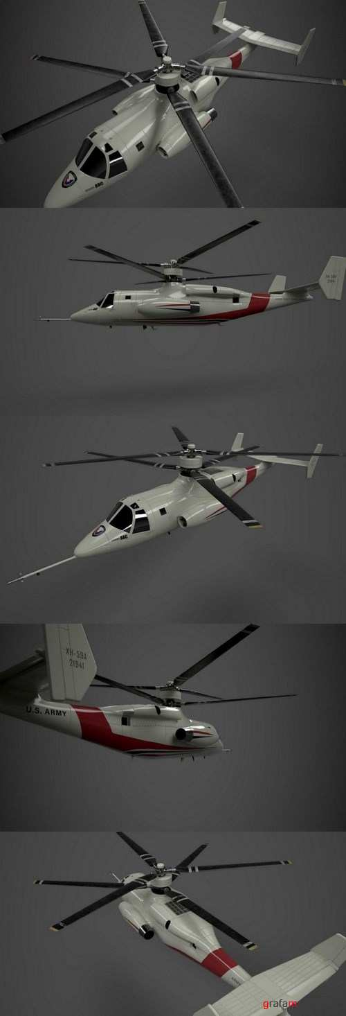 Sykorsky S-69 Concept Helicopter – 3D Model