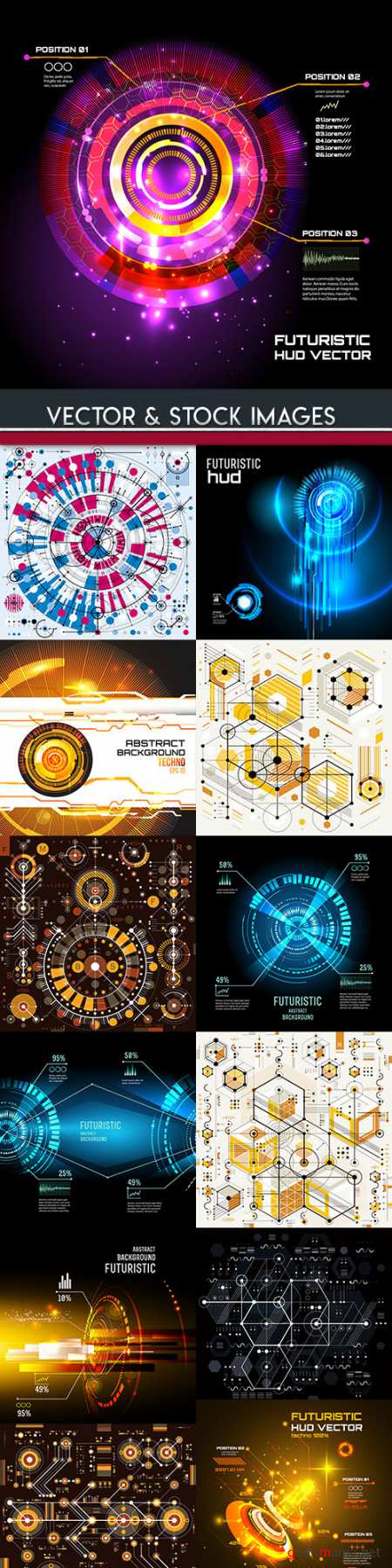 Technology system futuristic design background 5