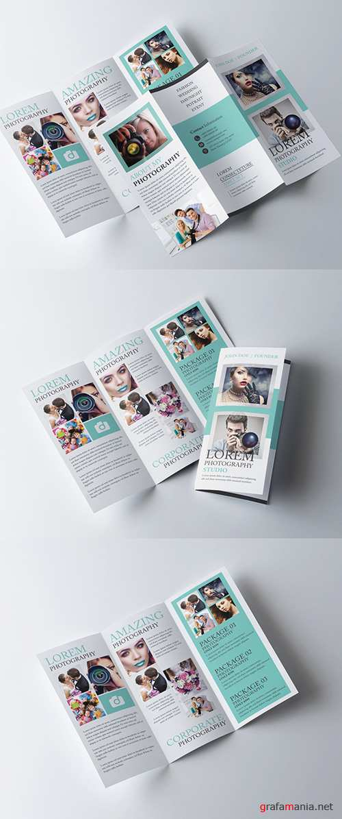 Trifold Brochure Layout with Teal Elements 281868071 AIT