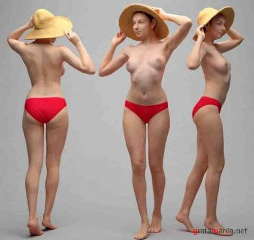 Naked Woman Standing – Scanned 3D Model