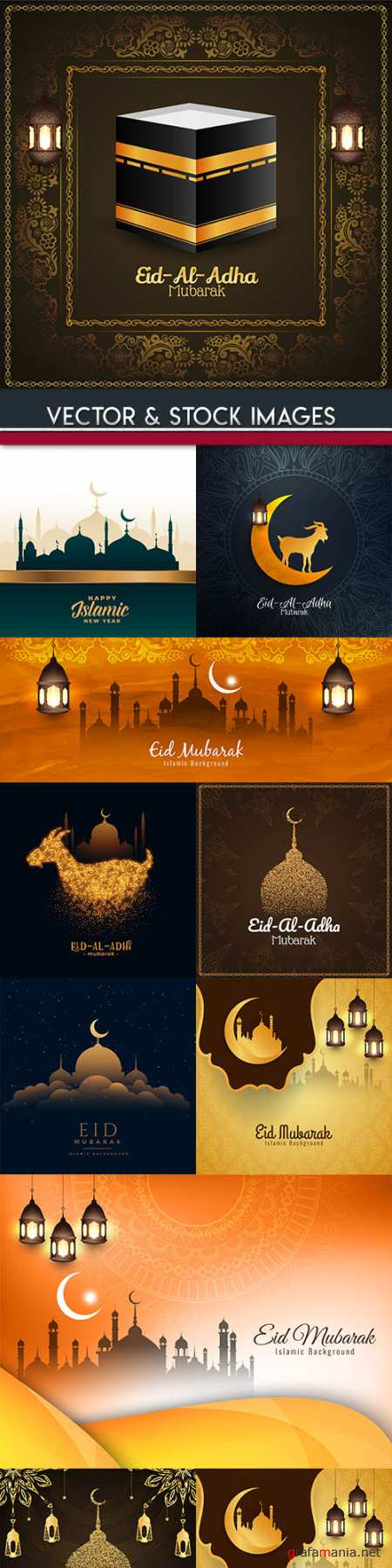 Ramadan Kareem Islamic culture collection illustrations 15