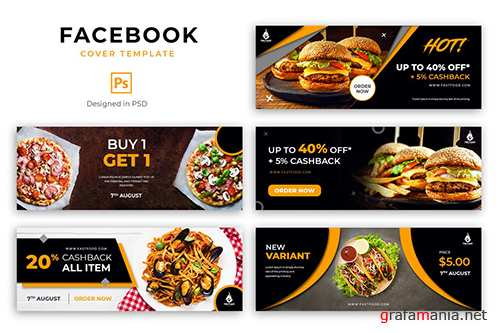 Food Facebook Cover Template PSD