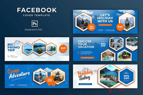 Holiday Facebook Cover Template PSD
