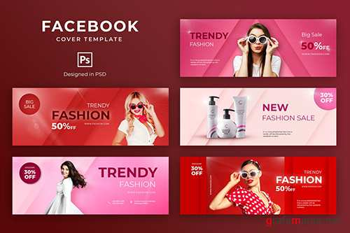 Beauty Fashion Facebook Cover Template PSD