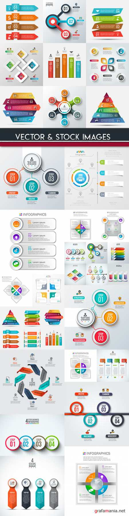 Business infographics options elements collection 89