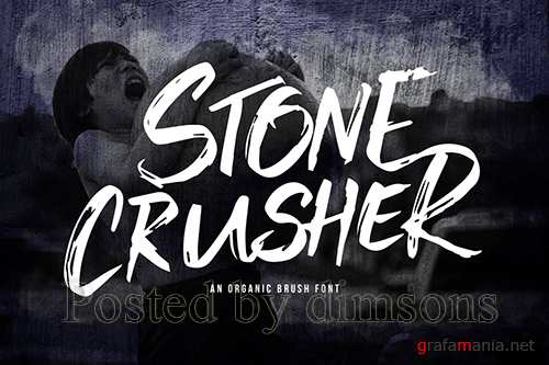 Stone Crusher - Brush Display Font