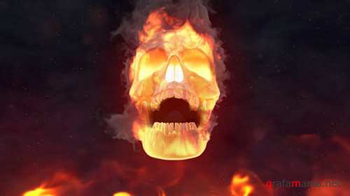 Fire Skull Logo Reveal 24509656
