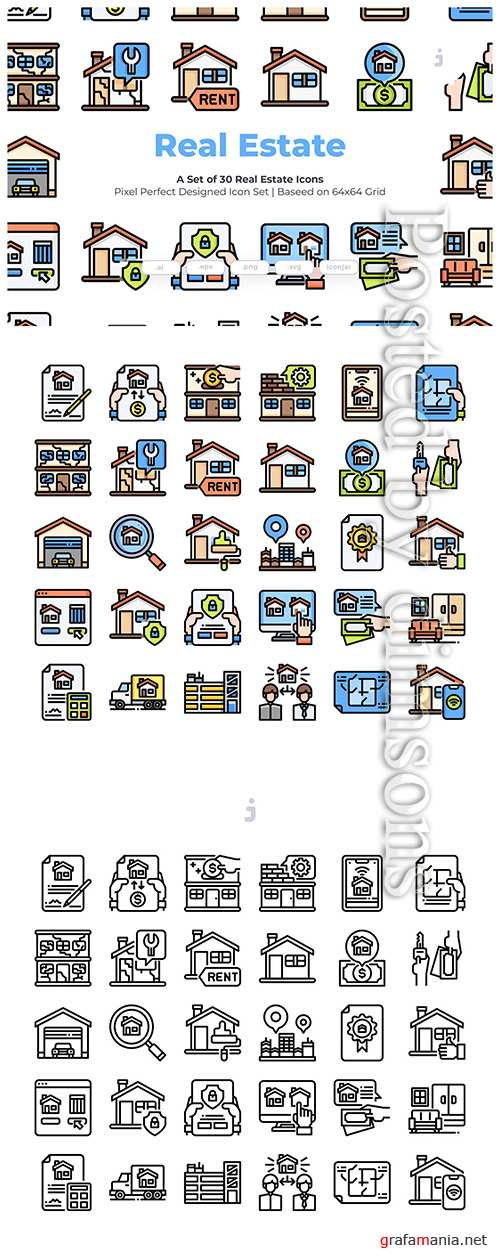 30 Real Estate Vector Icons