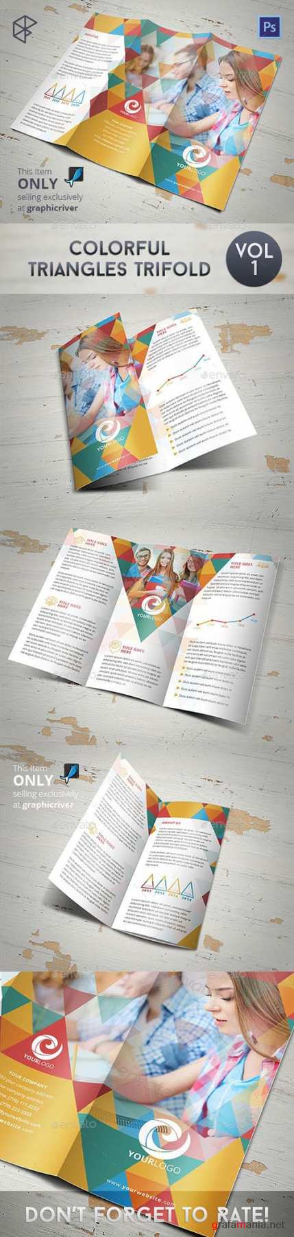 GR - Colorful Triangles Trifold 8067925