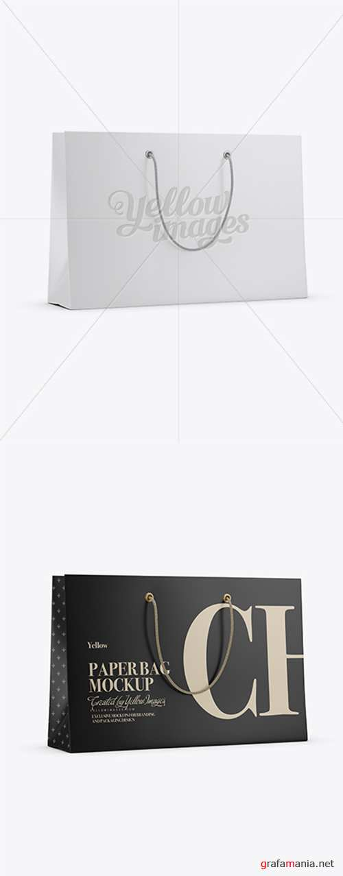 Matte Paper Shopping Bag With Rope Handle Mockup 16703 TIF