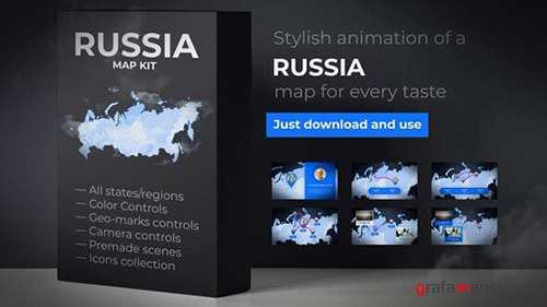 VH - Russia Map - Russian Federation Map Kit 24545916