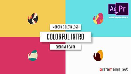 VH - Modern & Clean Logo - Colorful Intro 21929337