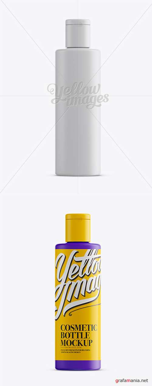 Matte Plastic Bottle With Flip-Top Mockup 12820 TIF