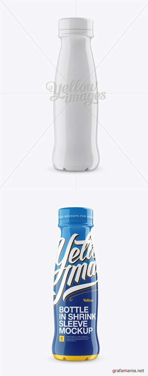 350 ml Plastic Bottle In Shrink Sleeve Mockup 12839 TIF