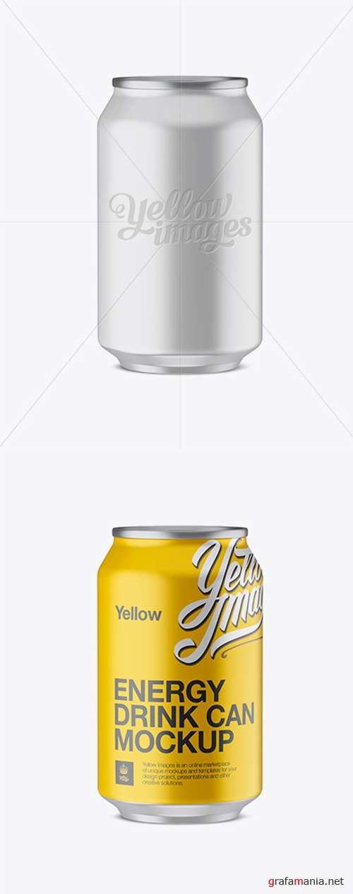 330ml Aluminium Can With Matte Finish Mockup (Eye-Level Shot) 13166 TIF