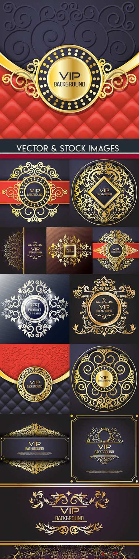 Luxury vip golden vintage elegant background