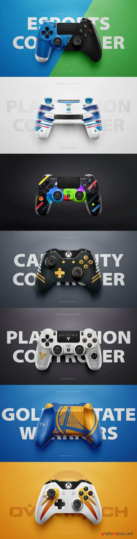 Playstation 4 & Xbox One Controllers Photoshop Psd Templates PSD