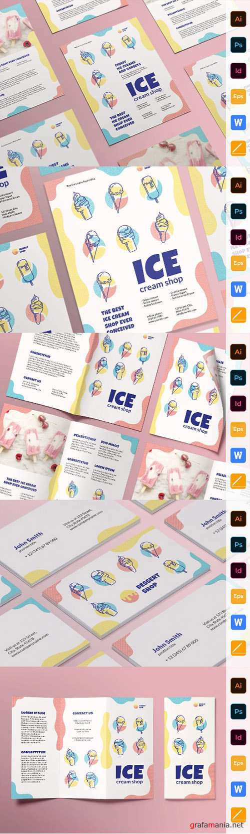 Ice Cream Shop Print Set