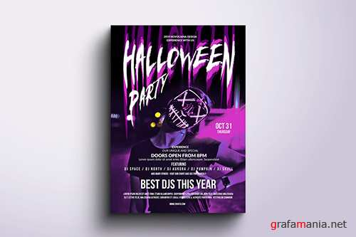 Halloween Party Poster & Flyer v3