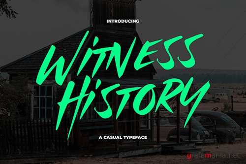 Witness History - Modern & Dramatic Typeface