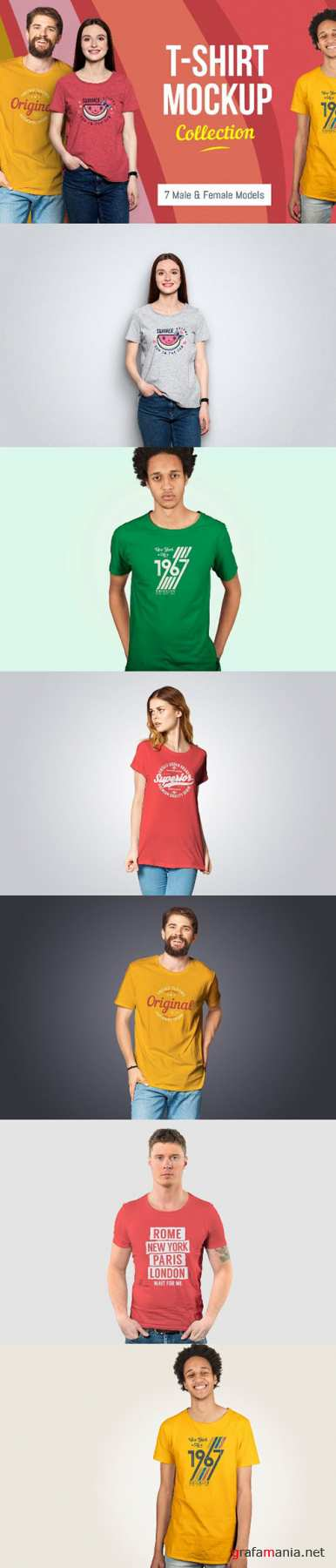 T-Shirt Mockup Collection PSD
