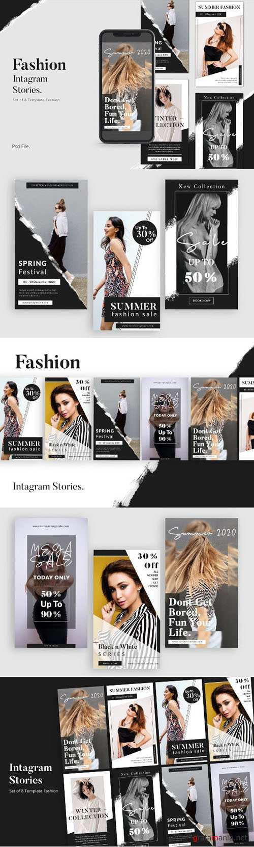 Fashion Social Media Instagram Stories Template PSD