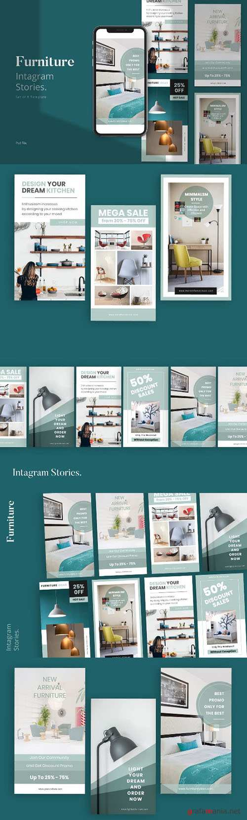 Furniture Social Media Instagram Stories Template PSD