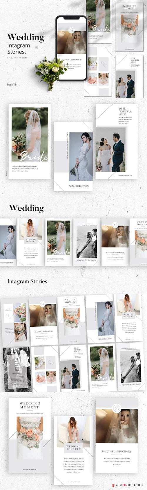 Wedding Moment Instagram Stories Template PSD