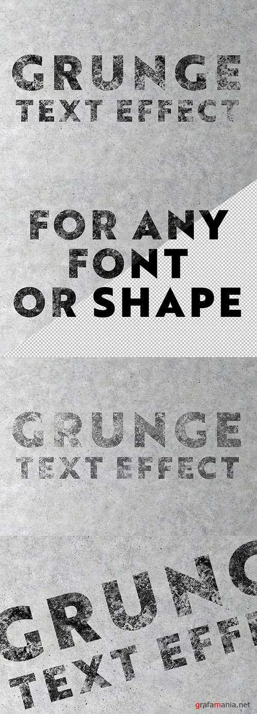 Concrete Grunge Text Effect Mockup 288921343 PSDT