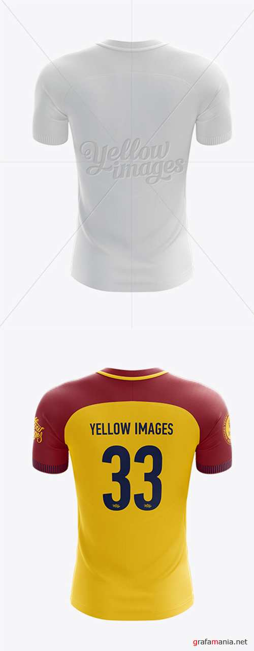 Mens Soccer Team Jersey mockup (Back View) 16976 TIF