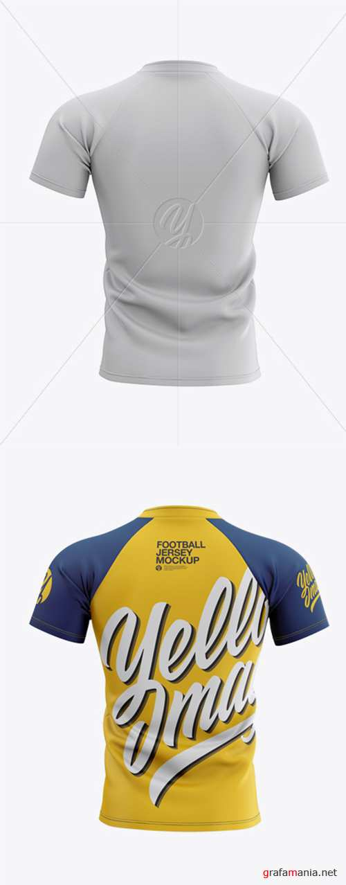 Mens Football Jersey Mockup - Back View 28048 TIF