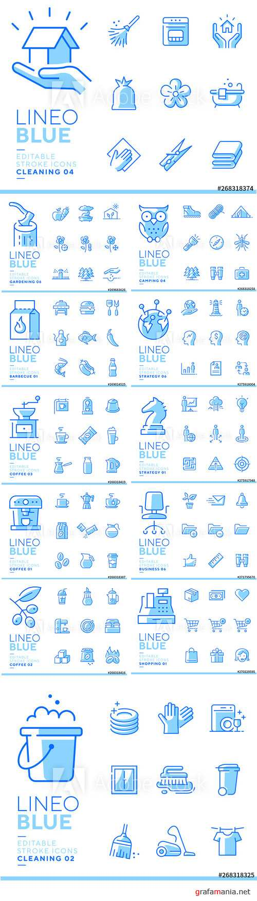 Lineo Blue - Line Icons Vector Pack Vol 3