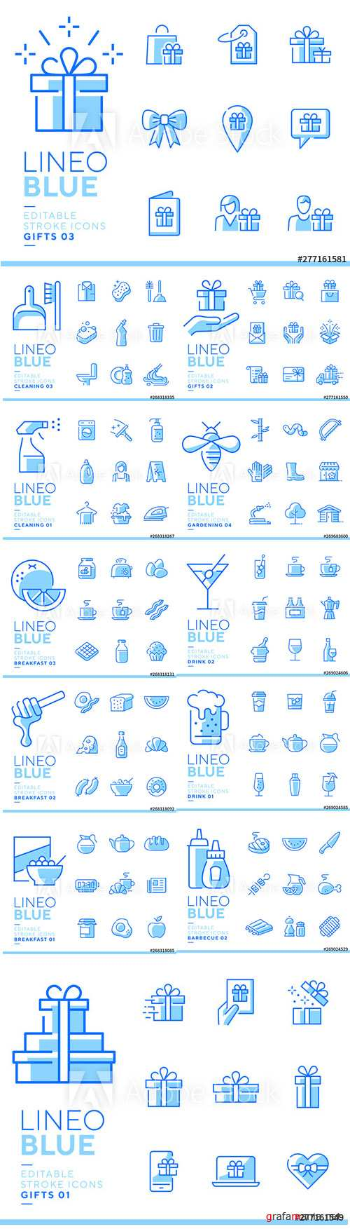 Lineo Blue - Line Icons Vector Pack Vol 4
